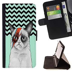 King Case - FOR Samsung Galaxy A3 - Smile because it happened - Prima caja de la PU billetera de cuero con ranuras para tarjetas, efectivo Compartimiento desmontable y correa para la mu?eca