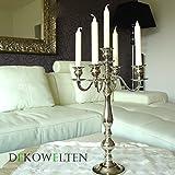 Kerzenleuchter 50cm, 5-flammig,Kerzenständer BIG mit Samtfuss von Dekowelten