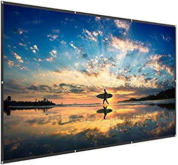 TaoTronics 120' High Contrast 4K HD PVC 16:9 Projector Screen