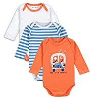 Mother Nest Onesies Baby Bodysuits 100% Cotton 0-12 Months Boys/Grils(3 Pack)