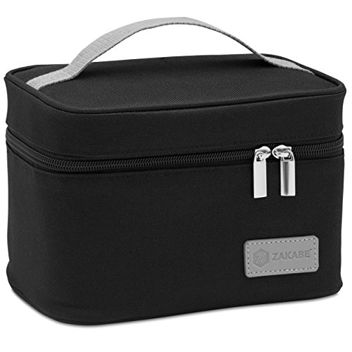 Zakabe Lunch Bag, Lunch Box, Cooler Bag, Set of 2 Sizes, Insulated, for Women, Kids, Adults, Men, Work or School - Black by Zakabe (Image #7)