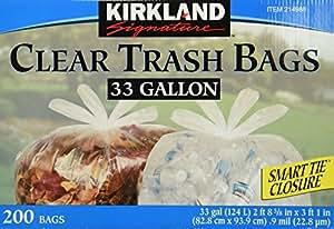 Kirkland signature clear trash bags with smart closure 33 for 88 kirkland salon