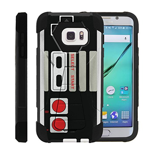 Cheap MINITURTLE Case Compatible w/ Galaxy S7 Case | SHOCK Impact Hard Rubber Durable Unique Creative Cover, Samsung S7 Game Controller