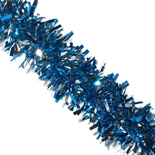 (Blue and Silver Metallic Twist Garland - 4