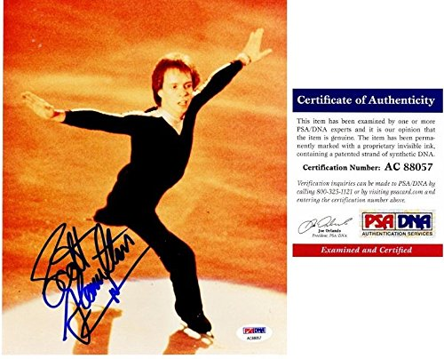 (Scott Hamilton Signed - Autographed Figure Skating 8x10 inch Photo - Certificate of Authenticity (COA) - PSA/DNA Certified )