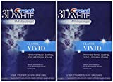 Crest 3D Whitestrips Classic Vivid Teeth Whitening Kit, 12 Count (Pack of 2)