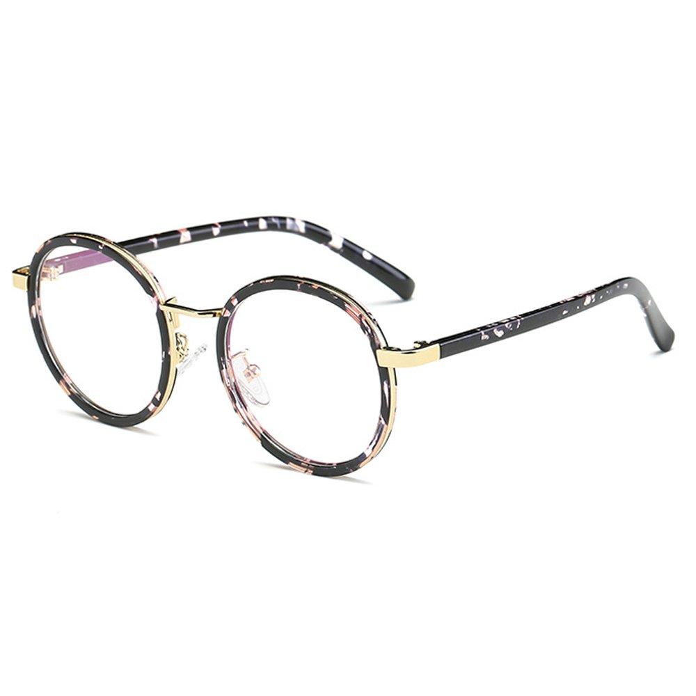 Fantia Children Glasses Frame 8-14 Years Old for Gilrs Round Retro Kids Eyeglass (Tortoiseshell)