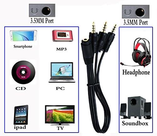 zdyCGTime Cable Divisor de Audio de 3,5 mm y Audio estéreo de 3,5 ...