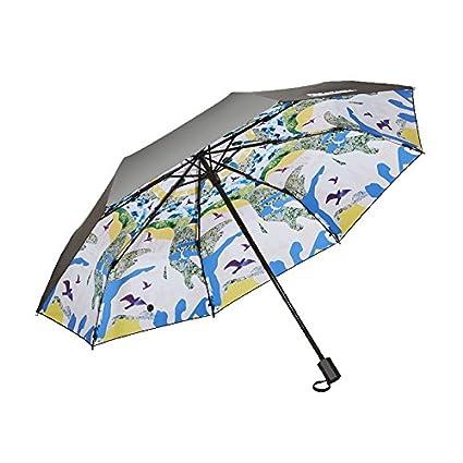 Paraguas plegable automatico Mujer niño Hombre an- Protección UV Paraguas del Sol - Protector Solar