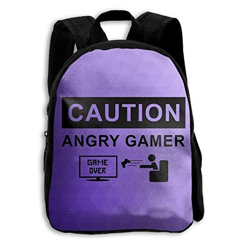 Kids School Bag Double Shoulder Print Backpacks Anger Game Travel Gear Daypack Gift (Tart Satchel)
