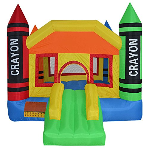 - Tek Widget Inflatable Crayon Moonwalk Bounce House