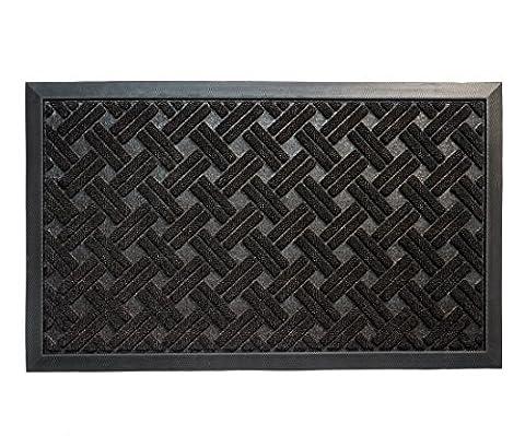 Entrance Rug Doormat, Shoe Scraper Entryway Floor Mat, 29x17-Inches, Black (Waterhog Indoor Outdoor Rug)