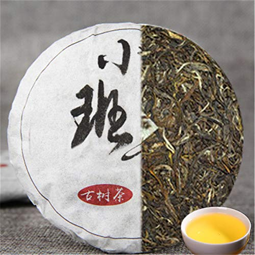 (Small Banzhang Ancient Tree Tea Pu'er Tea Raw Tea Bohai Old Banzhang Tea 50g (0.11LB) Ancient Tree Tea Cake Green tea Puer tea Chinese tea Pu er tea Raw tea Puerh tea Pu-erh tea Old trees Pu erh tea)