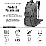Mountaintop 40 Liter Hiking Backpack with Rain