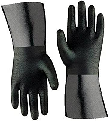 "Artisan Griller 12"" Heat Resistant Insulated Neoprene Gloves For Smokers, Fryers & Grills For Cooking & Handling Turkey Fryers, BBQ's, Pulling Pork, Home Brew Tasks. Includes 2-12"" glove"