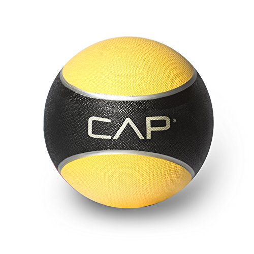CAP Rubber Medicine Ball, 8-Pound, Yellow