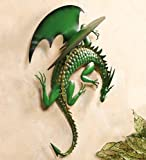 Climbing Green Dragon Metal Wall Art