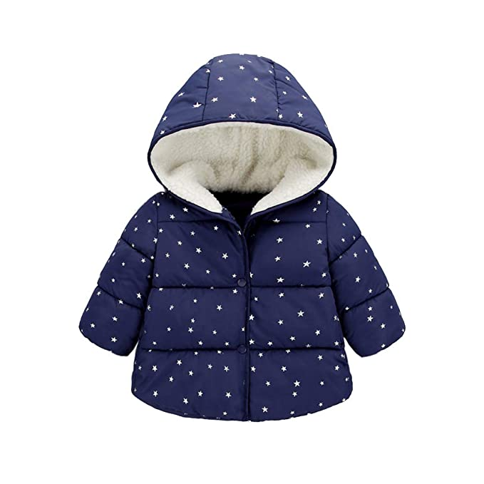 943f813eb4db AIKSSOO Infant Toddler Baby Boy Girl Winter Thick Fleece Hooded ...