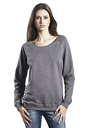 Underhood of London Grey Athletic Sweater for Women | 100% Organic Cotton Womens Sweatshirt | Small