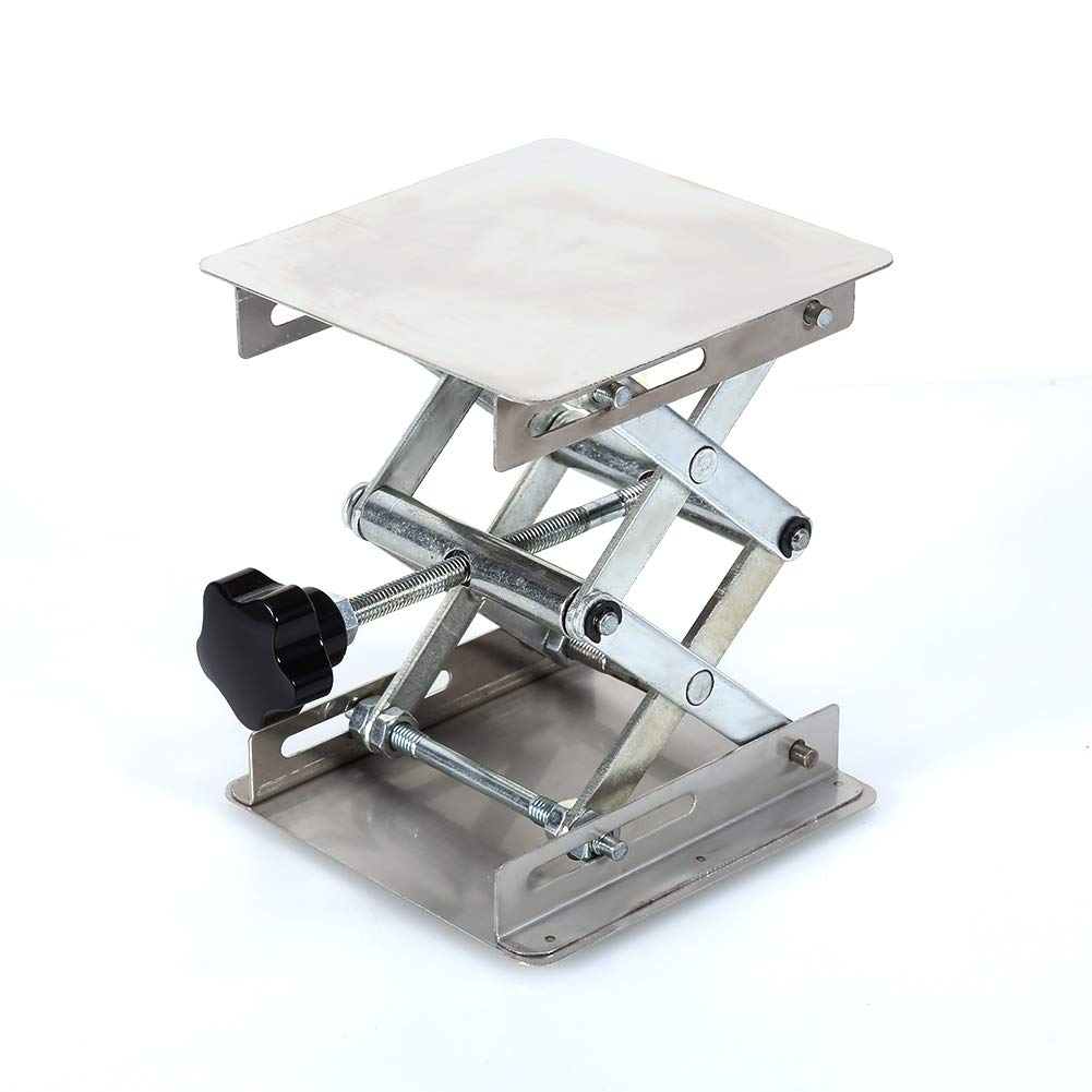 Lab Stand Table Scissor Lift,Stainless Steel Laboratory Lifting Platform Stand Scissor Rack Jack Lab-Lift for Height Adjustment Scientific Lab 100X100mm by Jectse (Image #2)