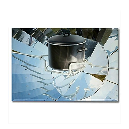 CafePress - Parabolic solar cooker - Rectangle Magnet - Rectangle Magnet, 2