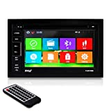 Pyle PLDNV66B 6.5-Inch Video Headunit Receiver GPS Navigation Bluetooth Wireless Streaming CD/DVD Player Double DIN (Discontinued by Manufacturer)