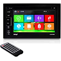 Pyle PLDNV66B 6.5 Video Headunit Receiver GPS Navigation Bluetooth Wireless Streaming CD/DVD Player