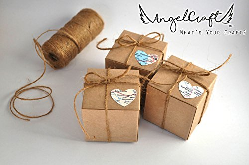 ANGELCRAFT Brown Kraft Gift Box 3x3x3 inch Cupcake Box, Wedding Party Favor, Bakery Box, Holiday Gift Box, Party Boxes 50-Pack by AngelCraft (Image #4)