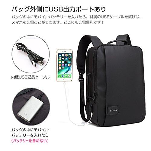 ebe79c6badba Asltoy ビジネスリュック バックパック ビジネスバッグ 3Way 手提げ PC リュック メンズ リュックサック パソコン バッグ