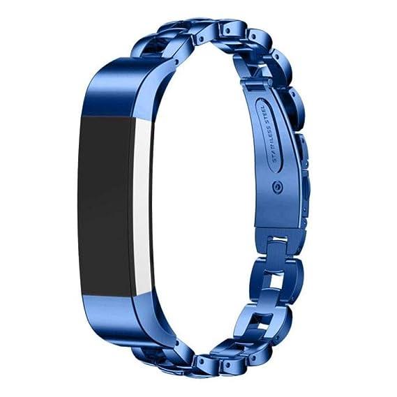 Bestow Fitbit Alta HR Reloj Inteligente Reloj de Pulsera de Acero Inoxidable Correa de Mu?