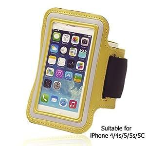OnlineBestDigital - Sports Running Jogging Gym Armband Case Holder for Apple iPhone 5S / Apple iPhone 5 - Yellow