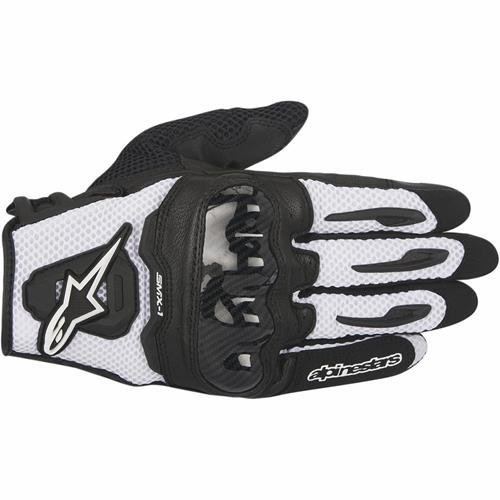 Alpinestars SMX-1 Air Mens Motorcycle Gloves - Black/White - Medium