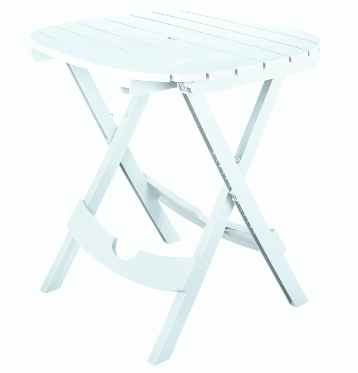 Adams Manufacturing 8550-48-3700 Quik-Fold Cafe Table, White by Adams Manufacturing