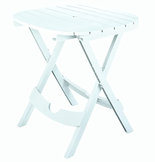 Amazon.com : Adams Manufacturing 8550 48 3700 Quik Fold Cafe Table, White :  Folding Tables : Garden U0026 Outdoor