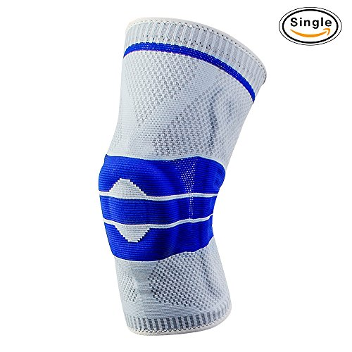 Metcalo Knee Brace Sleeves Breathable Compression 2018 New Design For Gel Pad And Springs Kneepad Silicon Arthritis Meniscus Tear Joint Pain Relief   Sports Injury Recovery 24 Hour Customer Support
