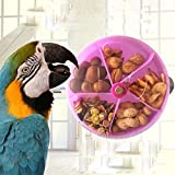 """Feature:    Material: Acrylic  Dia of the wheel: 13cm/5.11"""" Transparent design can see what is it in the wheel clearly Bird daily foraging food to significantly reduce boredom Not only a food feeder,but a intelligence toy for bird . By observing y..."""