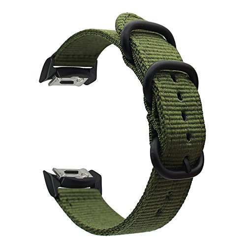 Gear S2 Watch Bands, ViCRiOR Nylon Ballistic Nato Woven Adjustable Replacement Strap Watchand with Adapter Connector for Samsung Gear S2 SM-R720 & SM-R730 Smart Watch
