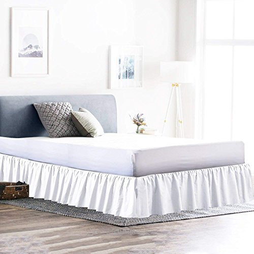 Find Bargain Ruffled Bed Skirt Split Corner, Wrinkle & Fade Resistant