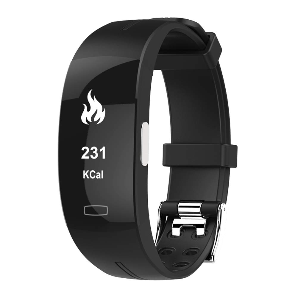 YIGIAO Fitness Tracker ECG + PPG Smart Sfigmomanometro Bluetooth Smart Bracciale Sport, Nero