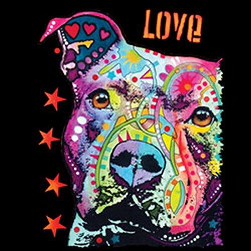 Pitbull/Umhängetasche/Tasche-Vintagelook mit Dog-Neon-Druck: Thoughtful Pit Bull für Hundefreunde