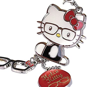 1367e79c95 Z122-B Cute Adorable Red Style Hello Kitty Glasses Charms Keychain Key Ring