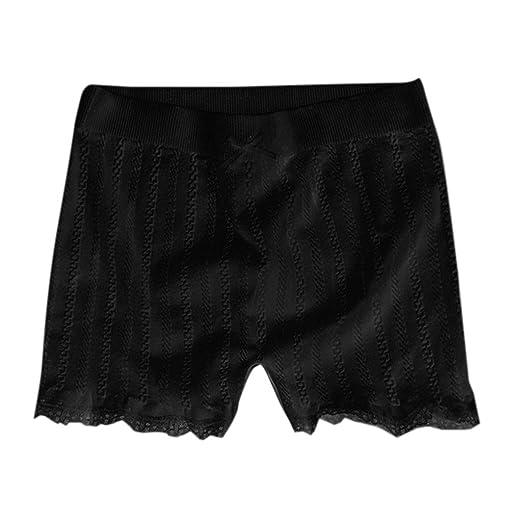 planuuik Mujer Pantalones Cortos elásticos Ajustados Franja de ...