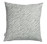 Roros Tweed 100% Norwegian Wool Reversible Designer Pillow Cushion (Giboulee in Grey/Light Blue)