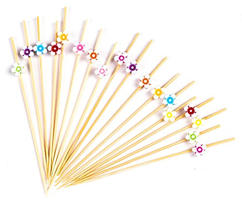(PuTwo Cocktail Picks Handmade Bamboo Toothpicks 100pcs 4.7