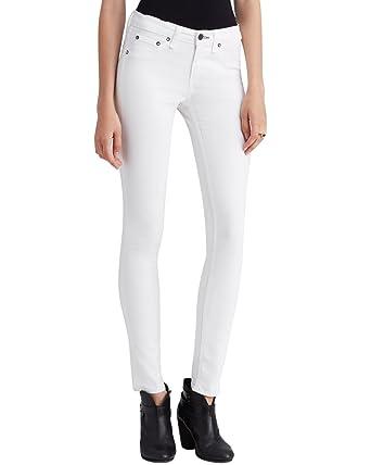 Rag & Bone Coated White Capri Jeans 26 at Amazon Women's Jeans store