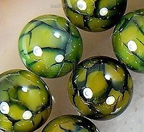 Green 10mm Natural Dragon Veins Agate Onyx Gemstone Round Loose Beads 15'' Strand