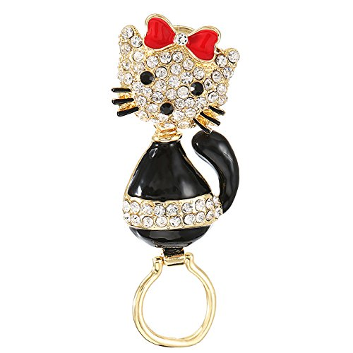 Rhinestone Kitty Cat Brooch Pin - 8