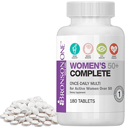 Bronson ONE Daily Womens 50+ Complete Multivitamin Multimineral (180)