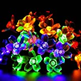 Uping Solar powered LED Fairy Lights 8 Mode String light 50er flowers 7M Multi color waterproof for Indoor Outdoor Party Garden Christmas Halloween Wedding Home Bedroom Yard Deck Decora