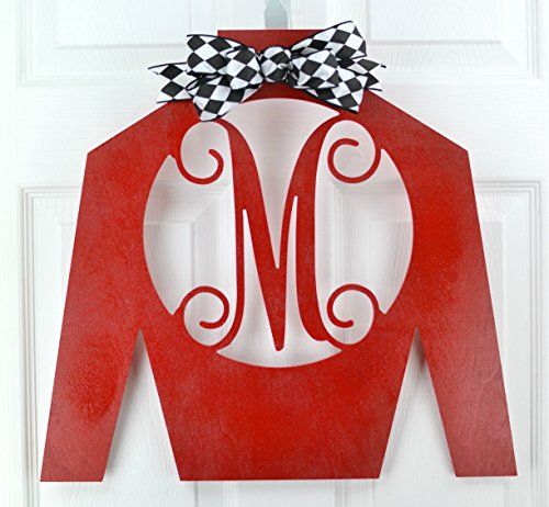 (Jockey Silk Monogram | Kentucky Derby Decor | Horse Racing Decoration | MANY COLORS)
